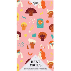 Hey Tiger Best Mates Coconut and Caramelised Popcorn Milk Chocolate | Harris Farm Online