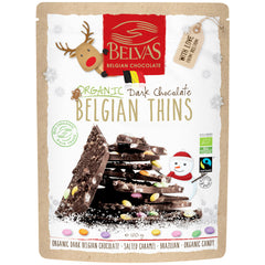 Belvas Belgian Thins Organic Dark Chocolate Hazelnuts, Salted Caramel, Candies and Puffed Rice | Harris Farm Online