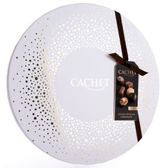 Cachet Assorted Chocolate Pralines Christmas Round Box | Harris Farm Online