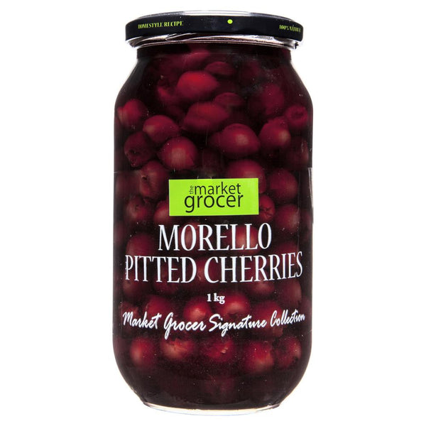 Market Grocer Morrello Pitted Cherries 1kg , Grocery-Antipasti - HFM, Harris Farm Markets  - 1