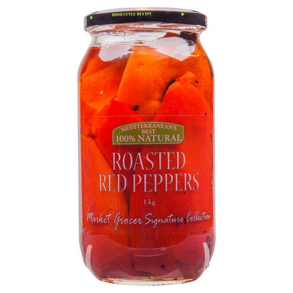 Market Grocer Antipasti Peppers Red Roasted 1kg , Grocery-Antipasti - HFM, Harris Farm Markets  - 1