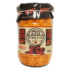 Perustija Homemade Ajvar Spicy 560g