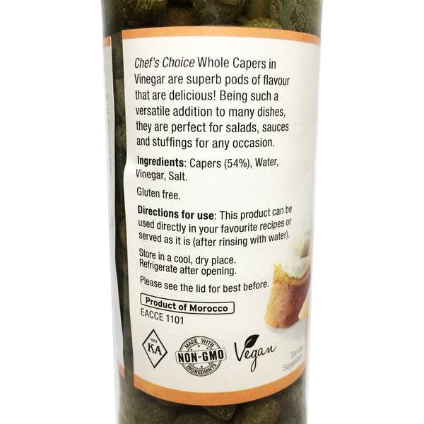 Chefs Choice - Whole Capers - In Vinegar (110g)