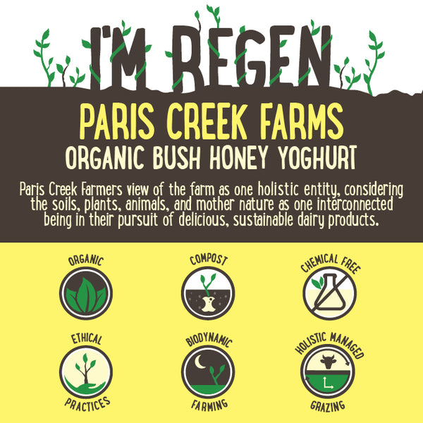 Paris Creek Farms Organic Bush Honey and Vanilla Yoghurt | Harris Farm Online