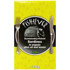 Fish4Ever Sardines In Organic Olive Oil and Lemon 120g