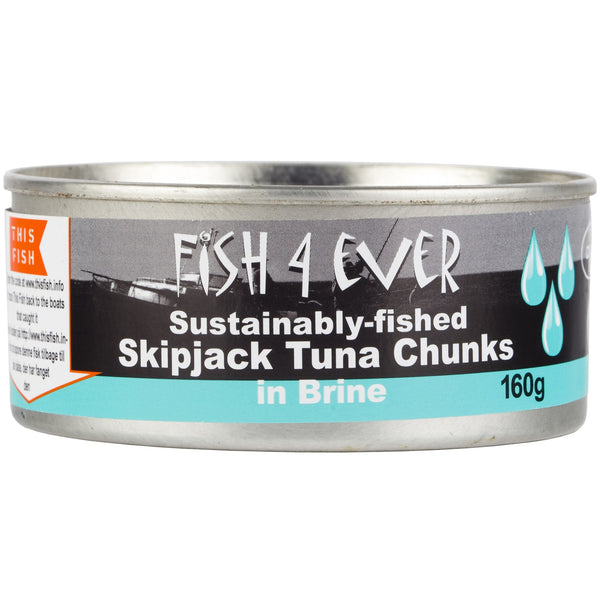 Fish4Ever - Skipjack Tuna Chunks - in Brine (160g)