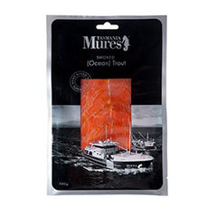 Trout - Ocean Smoked - Sliced Prepacked (100g) Mures