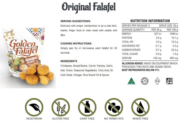 Golden Falafel Original Falafel 180g