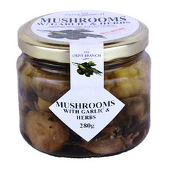 The Olive Branch - Antipasto Mushrooms - with Garlic & Herbs (280g)