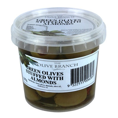 The Olive Branch - Antipasto Green Olives - Stuffed with Almonds (335g)