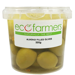 Eco Farmers Almond Filled Olives | Harris Farm Online