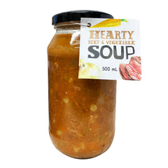 HFM Soup Jar - Hearty Beef and Vegetable Soup (500mL)