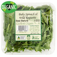 Salad Organic Baby Spinach and Wild Roquette | Harris Farm Online