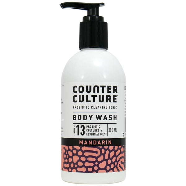 Counter Culture - Body wash Pump - Mandarin - Probiotic Cleaning Tonic (300mL)