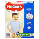 Huggies - Boys Nappies - Size 5 - Ultra Dry (13-18kg, 132 nappies)