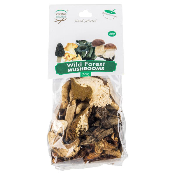 Viking Imports Platter Wild Forest Mushrooms 30g , Grocery-Antipasti - HFM, Harris Farm Markets  - 1