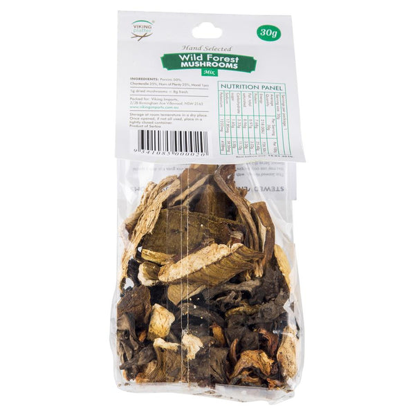 Viking Imports Platter Wild Forest Mushrooms 30g , Grocery-Antipasti - HFM, Harris Farm Markets  - 2