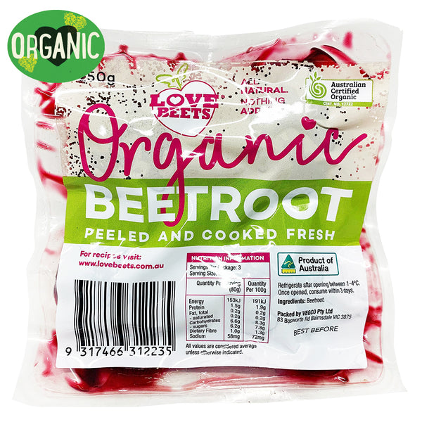 Beetroot Love Beets Organic Peel and Cooked | Harris Farm Online