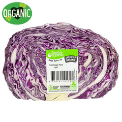 Fresh Cabbage Red Organic | Harris Farm Online