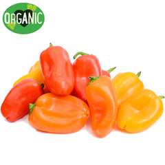 Baby Capsicums Organic Mixed Colour | Harris Farm Online