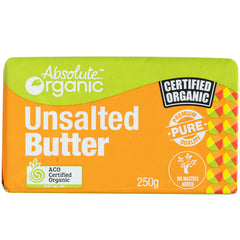Absolute Organic - Australian Butter Block - UnSalted (250g)