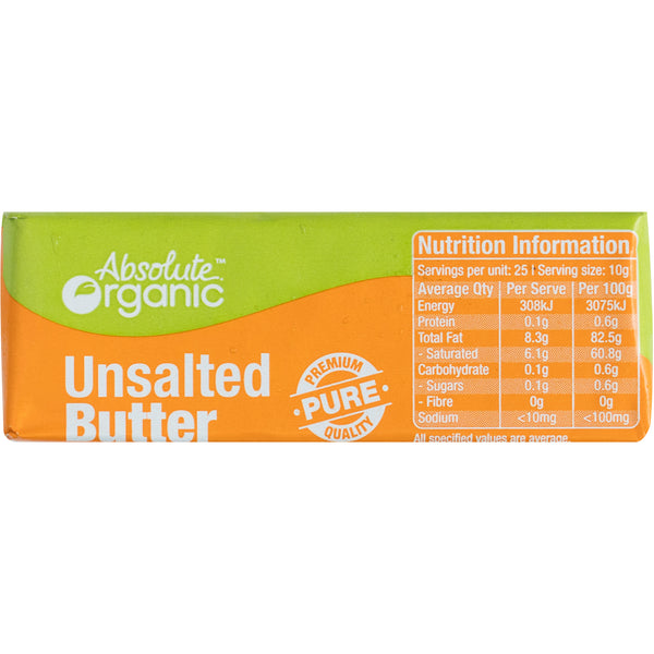 Absolute Organic UnSalted Butter Block | Harris Farm Online