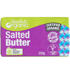 Absolute Organic - Australian Butter Block - Salted (250g)