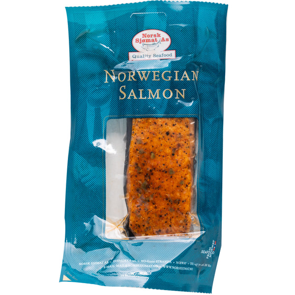 Norsk Norwegian Salmon Hotsmoked with Peppermix 150g