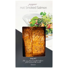 Salmon - Hot Smoked - Pepper (250g) Dansti
