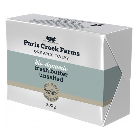 BD Farm Paris Creek - Fresh Butter Unsalted - in conversion Organic (200g)