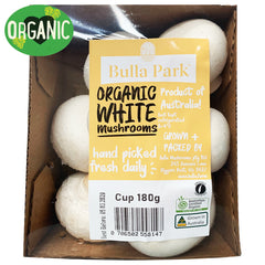 Mushrooms Cup Organic (180g punnet)