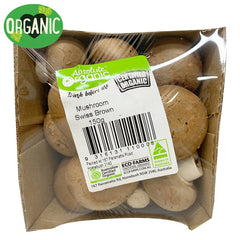 Mushrooms Swiss Brown - Organic (150g punnet)