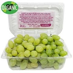 Grapes White Seedless Organic (500g punnet)