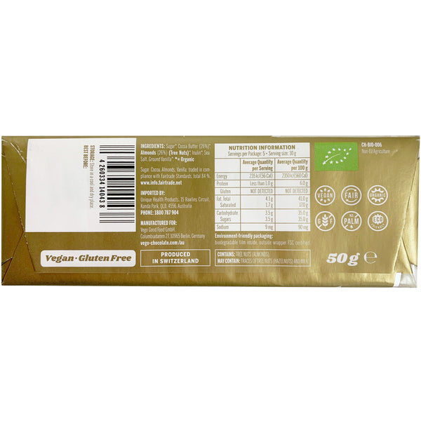 Vego - White Chocolate Bar - Almond Bliss (50g)
