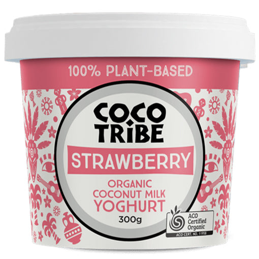 Coco Tribe - Organic Coconut Milk Yoghurt - Strawberry | Harris Farm Online