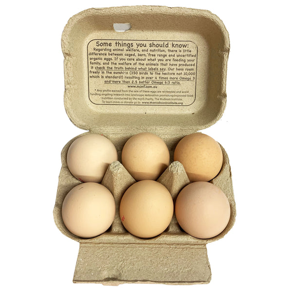 Mulloon Creek - Eggs Organic (6 eggs, 350g)