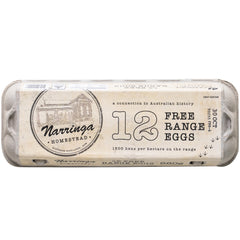 Narringa Homestead - Eggs Free Range (12eggs, 660g)