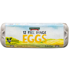 Harris Farm - Eggs - Free Range (12 Pack, 660g)