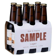 Sample Brew - Beer Lager (Pack of 6 x 330mL bottles)