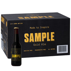 Sample Brew - Beer Gold Ale (case of 24 x 330mL bottles)