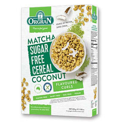 Orgran - Sugar Free Cereal - Matcha & Coconut Flavoured Curls (200g)