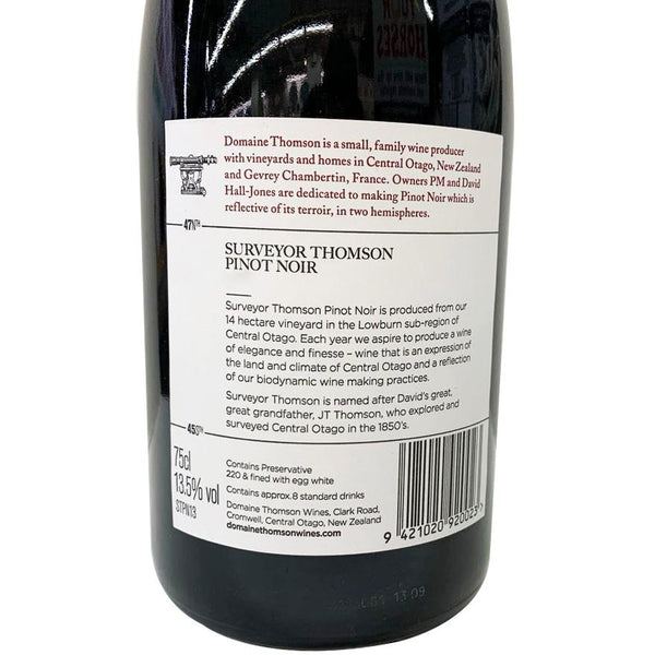 Domaine Thompson Surveyor Thompson Pinot Noir Central Otago NZ 750ml