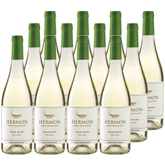 HerMon - Mt Hermon White Wine - Golan Heights, Israel (Case Sale, 12 bottles x 750mL)