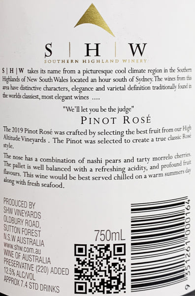 Southern Highlands Winery Pinot Rose | Harris Farm Online