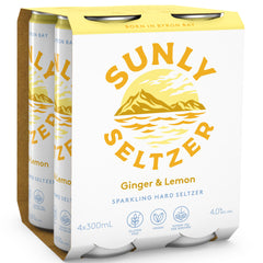 Sunly Seltzer Ginger and Lemon Cans | Harris Farm Online