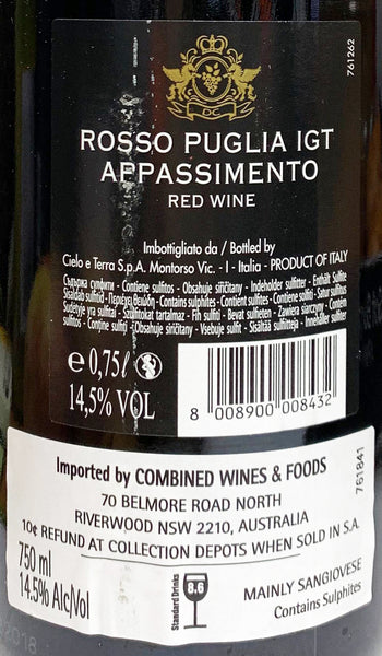 De Conti - Red Wine - Appassimento - Italy (Case Sale, 6 bottles x 750mL)