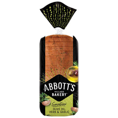 Abbotts Bakery - Bread Olive Oil, Herb and Garlic (750g)