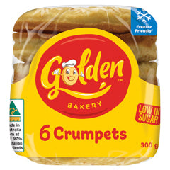 Golden Bakery Plain Crumpets x6 300g