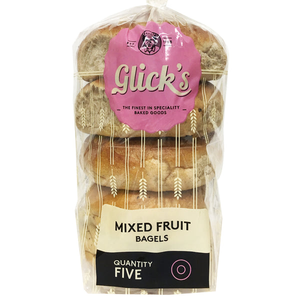 Glicks - Bread Bagel - Mixed Fruit (5pk)