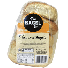 The Bagel Co Sesame Bagels x5 500g